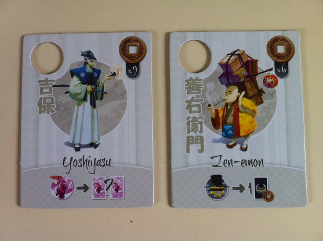 Tokaido - Personnages