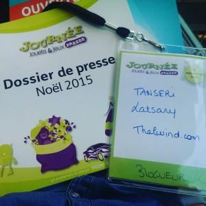 Badge Thalwind pour la Journée Press Jouets et Jeux