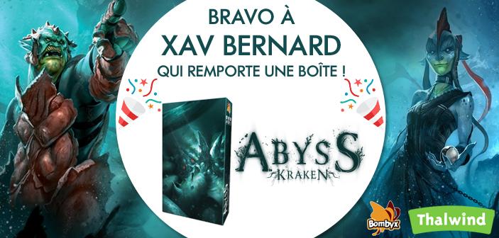 Le gagnant du concours Abyss Kraken est .. !