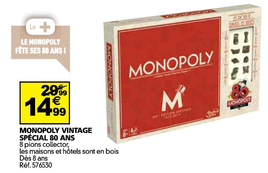 monopoly vintage thalwind jeux de soci t. Black Bedroom Furniture Sets. Home Design Ideas