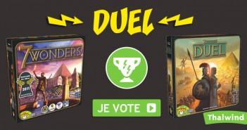 Le duel entre 7 Wonders version à 2 et 7 joueurs