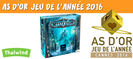 Mysterium remporte le label As d'Or Jeu de l'année 2016