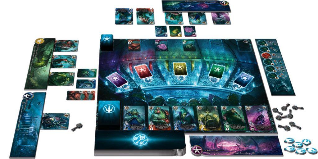 Le magnifique plateau de jeu Abyss