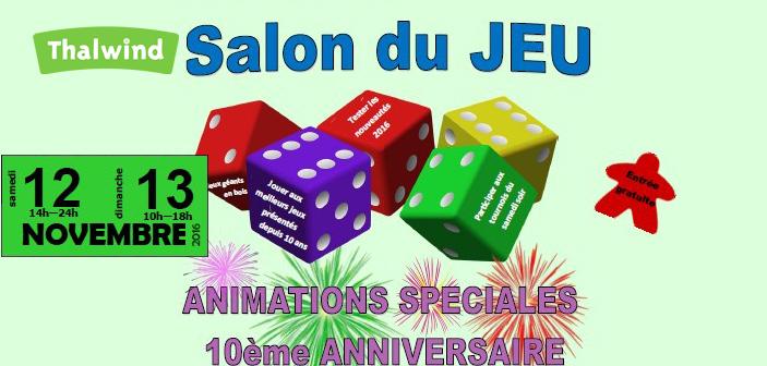 Salon du jeu 12 et 13 novembre en alsace thalwind for Salons novembre 2016