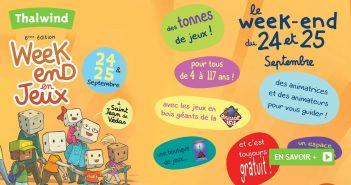 Week-end en Jeux - 24 et 25 septembre