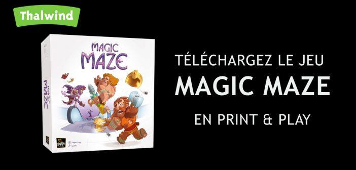 Un Print & Play pour découvrir Magic Maze