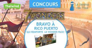Le gagnant du concours Wonder Pack 7Wonders
