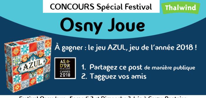 Concours Osny Joue – Gagnez Azul – As d'Or, Jeu de l'Année à Cannes