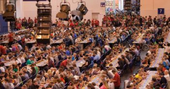 Les tables au festival international Spiel à Essen