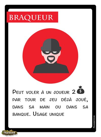 Prohibition - Carte Braqueur