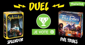 Duel entre Splendor et Five Tribes