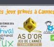 Les Jeux primés As d'Or à Cannes