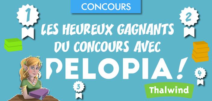 Les heureux gagnants du concours avec Pelopia