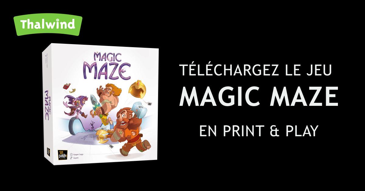 Magic Maze -Print & Play