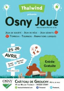 L'affiche de la 4ème édition du festival Osny Joue